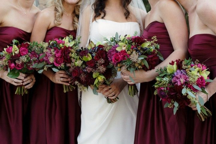 dresses for your bridesmaids or choose dresses with burgundy waist