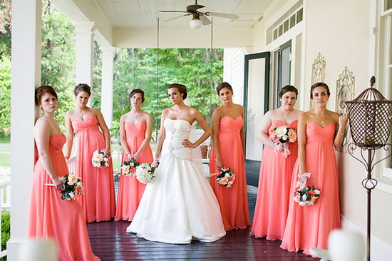 Coral being a perfect bridesmaid for Coral wedding bridesmaid dresses