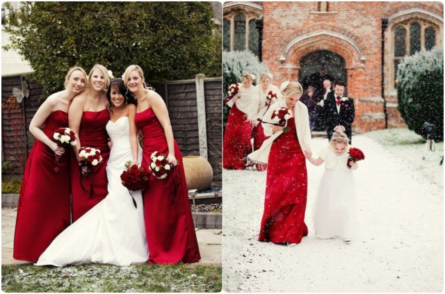 Christmas Red Bridesmaids Dresses