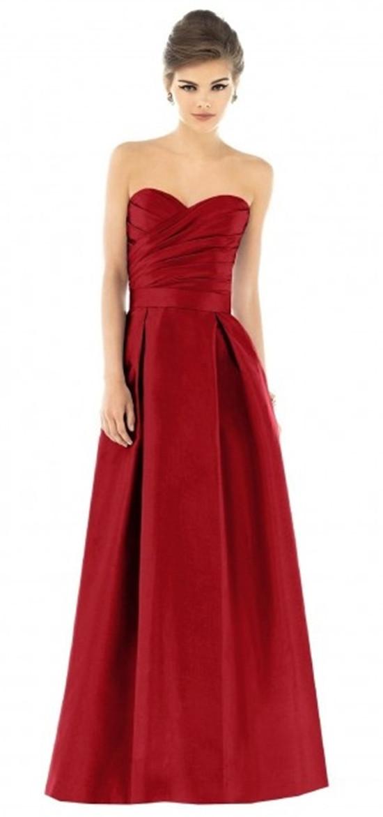 Red bridesmaid dress 163 68 rbd085 satin v neck red short bridesmaid