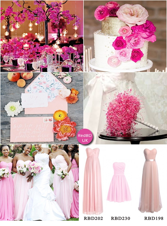 Different shades of pink wedding | Being A Perfect Bridesmaid