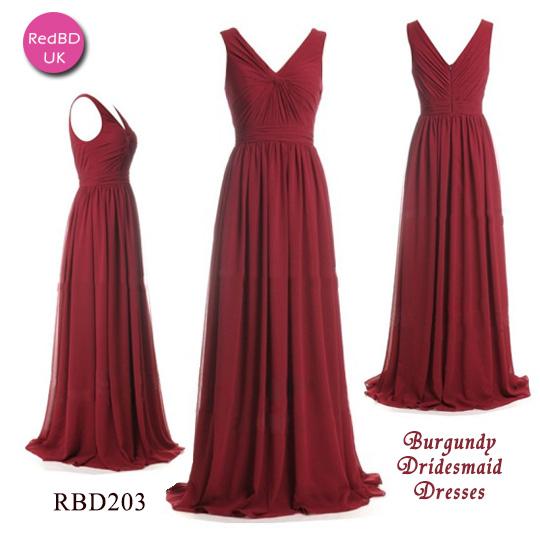 chiffon-v-neck-gathered-bodice-pleated-skirt-long-bridesmaid-dress